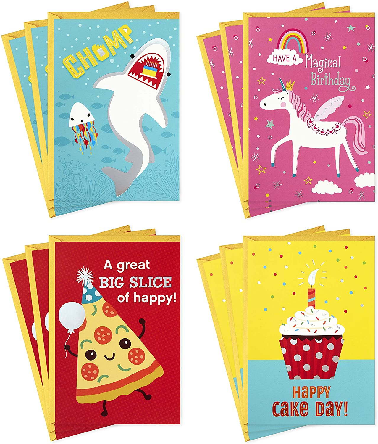 Hallmark Assorted Birthday Cards Birthday Icons, 12 Cards and Envelopes Birthday Candles