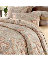 Brandream Luxury & Elegant Home Collection 800-Thread-Count Bedding Sets 3-piece Gold Paisley Print Duvet Cover Set 100% Cosy & Durable Egyptian Cotton,Twin Size