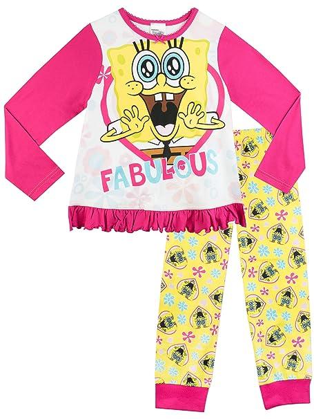d6338788d7 Bob Esponja - Pijama para niñas - SpongeBob SquarePants - 8 a 9 Años   Amazon.es  Ropa y accesorios