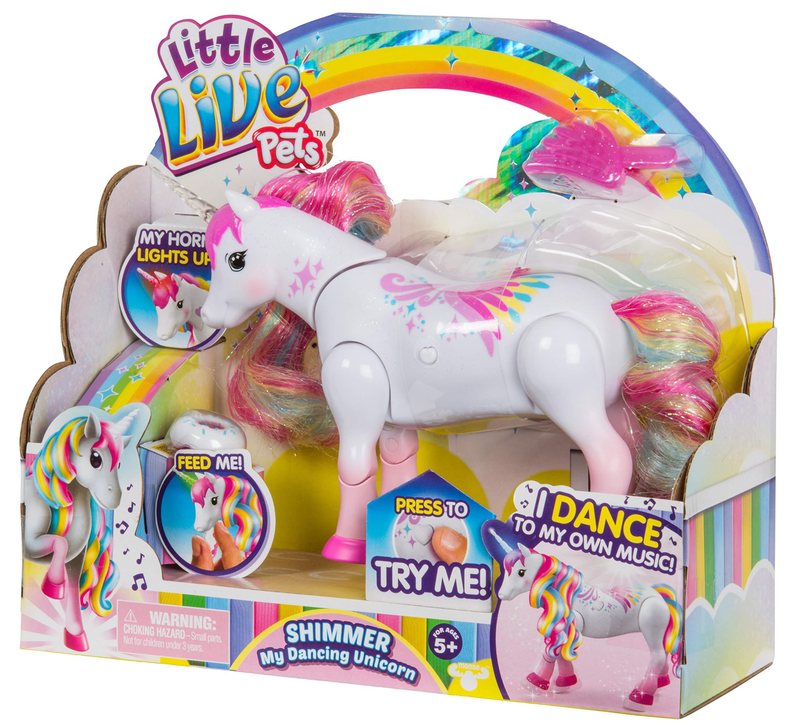 Little Live Pets Shimmer My Dancing Unicorn Rainbow Colors 3