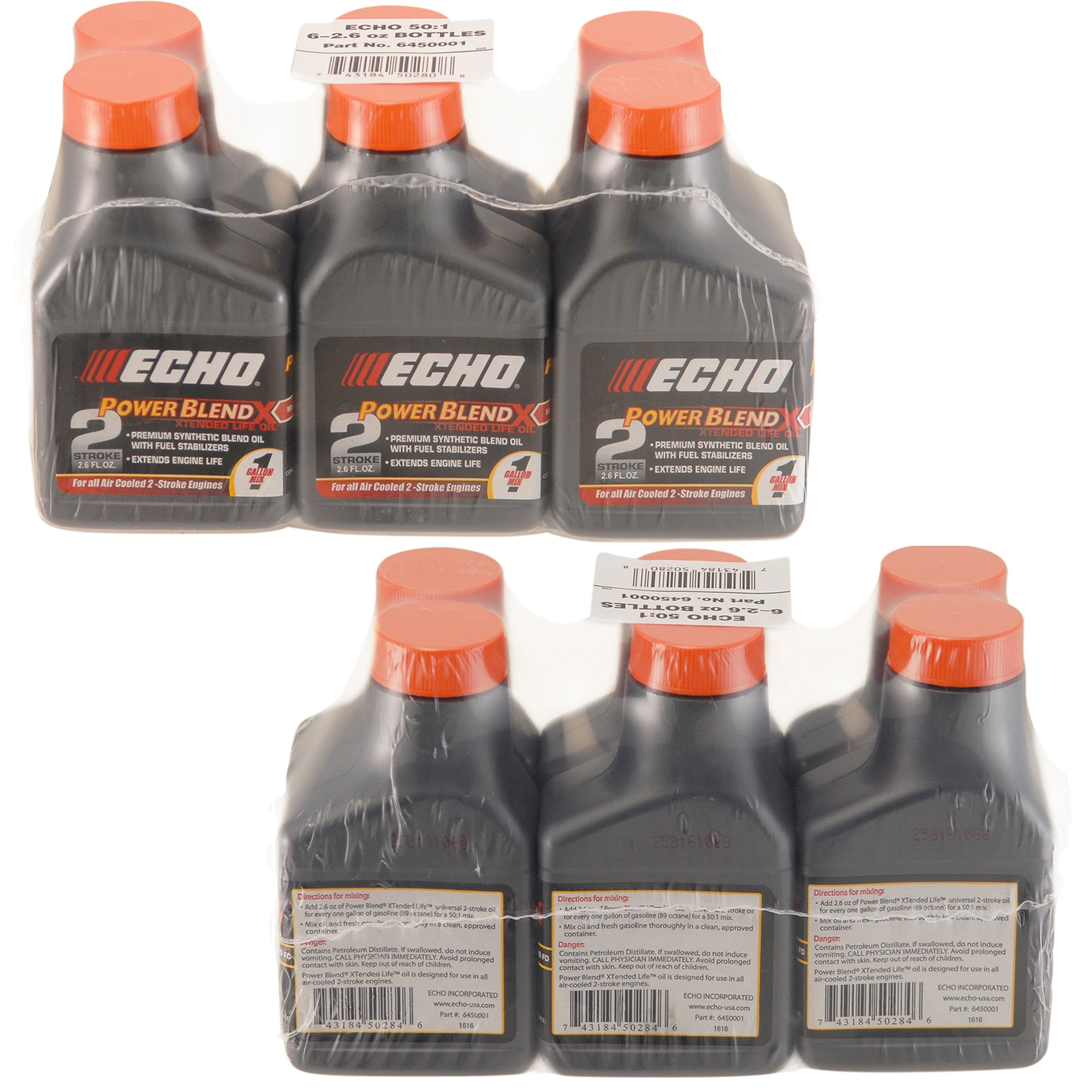 Echo 6450001 Power Blend 1 Gallon Oil Mix (50:1) 12 Pack by Echo