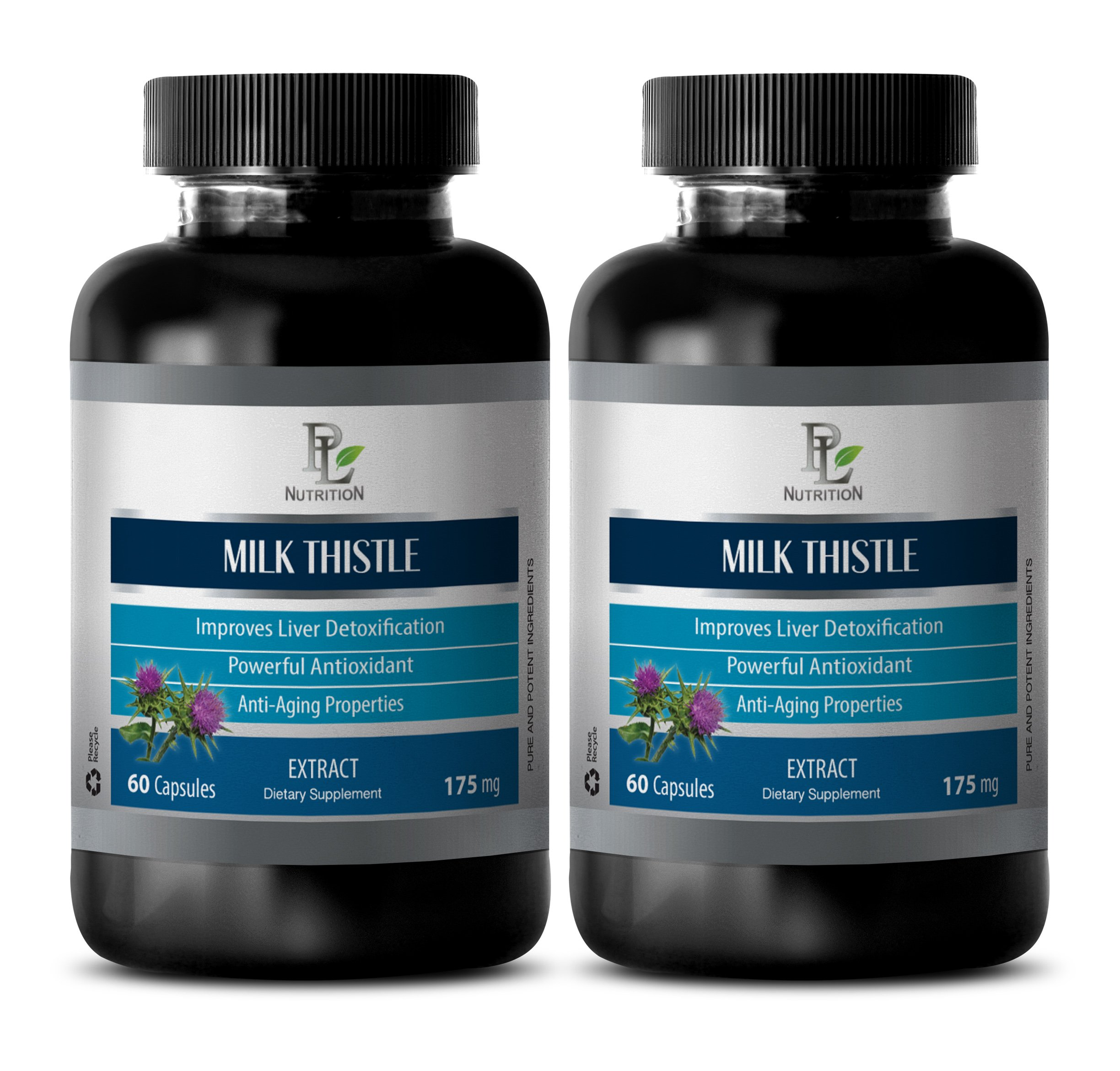 Kidney Support - MILK THISTLE SEED EXTRACT 175 - Milk thistle - 2 Bottle 120 Capsules