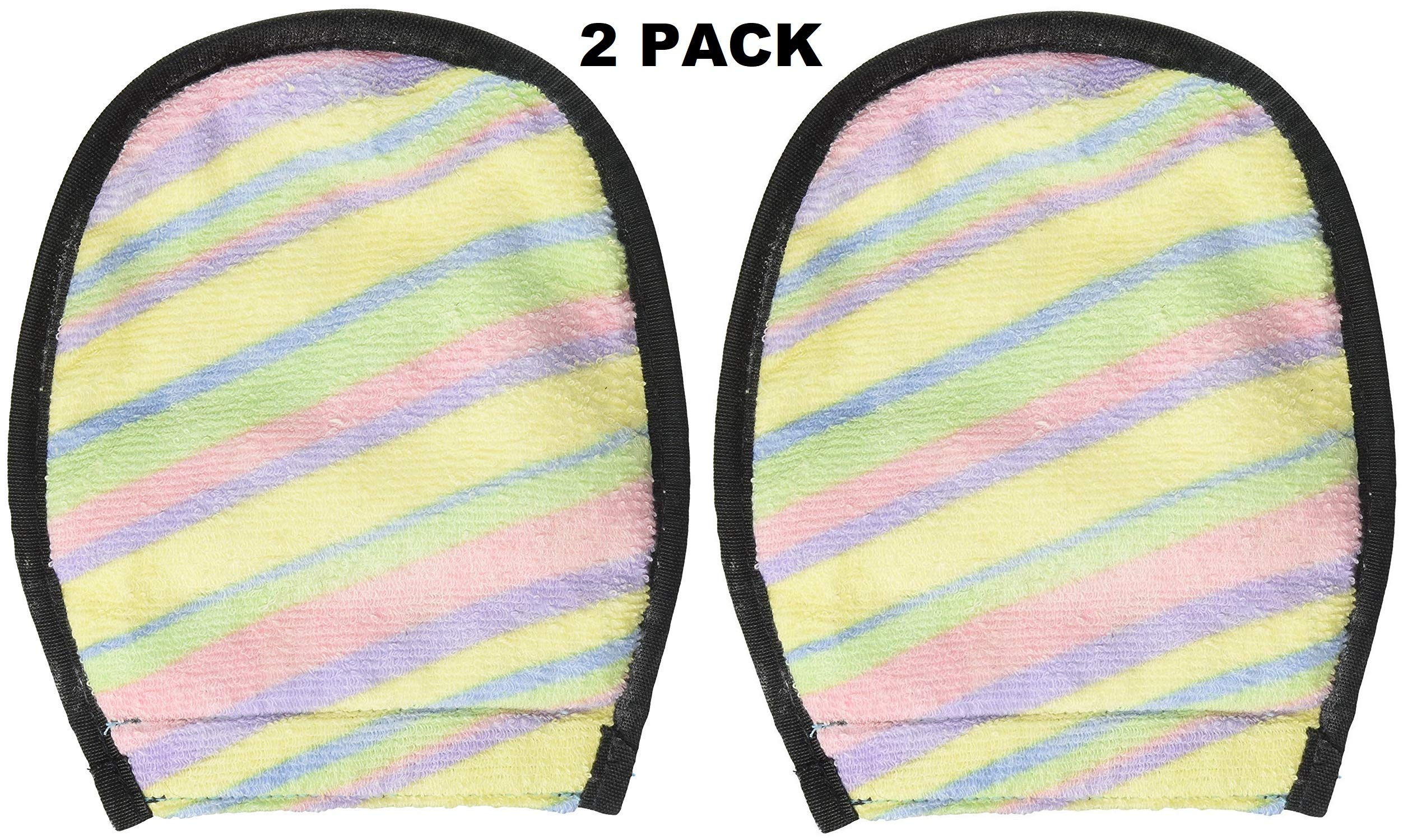 Water Sports Sand-Off! Sand Cleaner Wipe Off Mitt, Multi-Color, 2 Pack