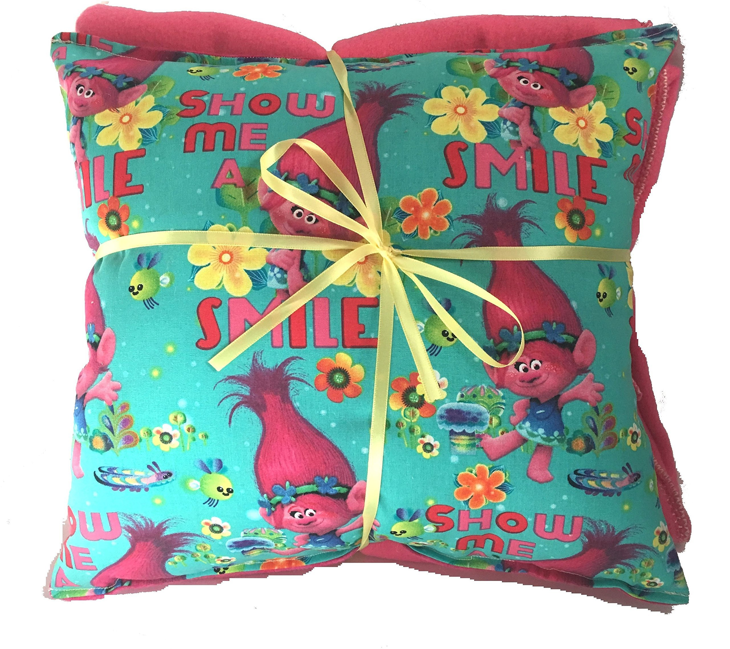 Troll Smile Pillow And Blanket Troll Movie Pillow and Blanket HANDMADE In USA Pillow Set