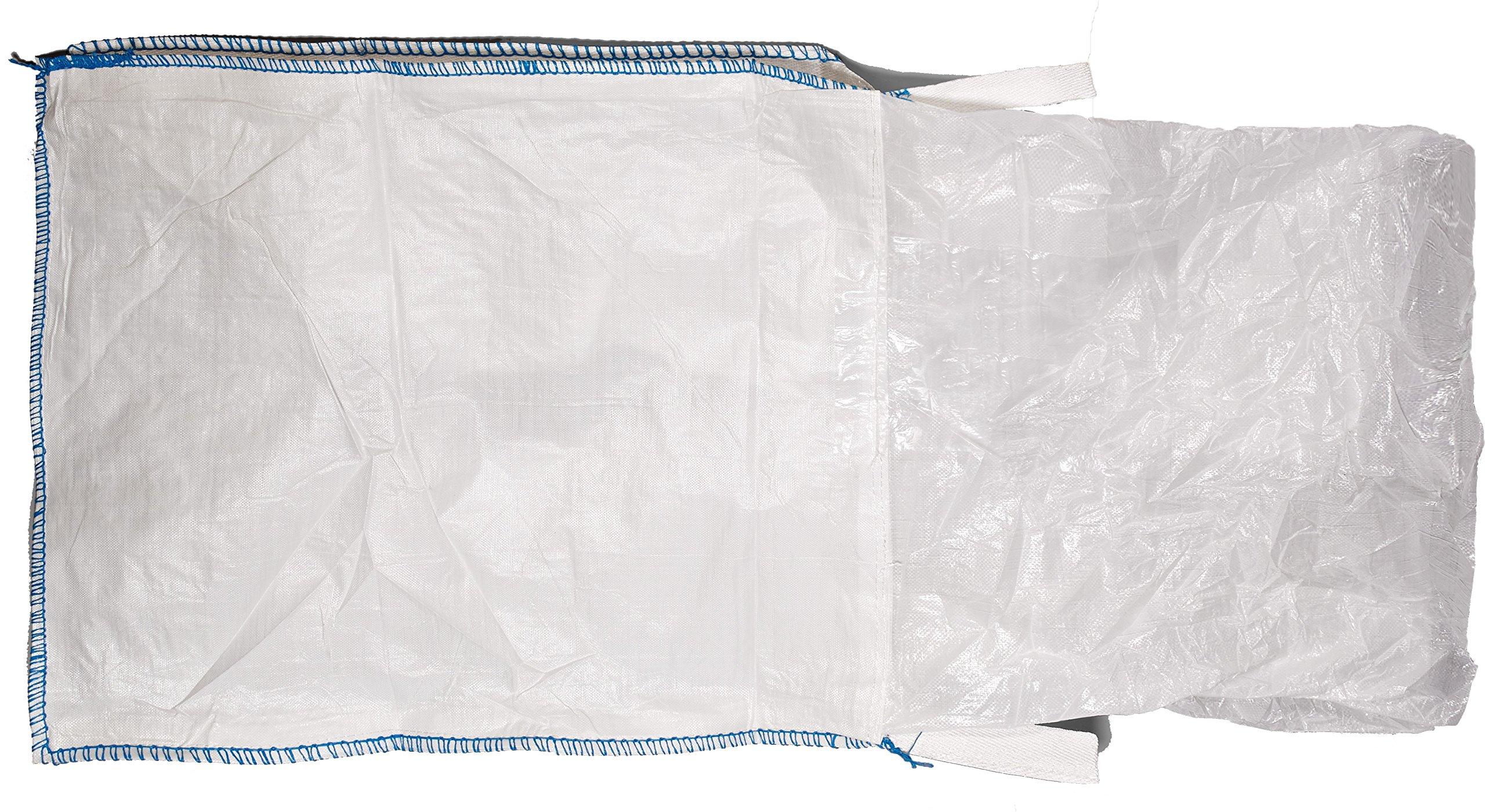 Mutual 14981 Polypropylene Bulk Bag, 3000 lbs Capacity, 3' Length x 3' Width x 3' Height by Mutual Industries