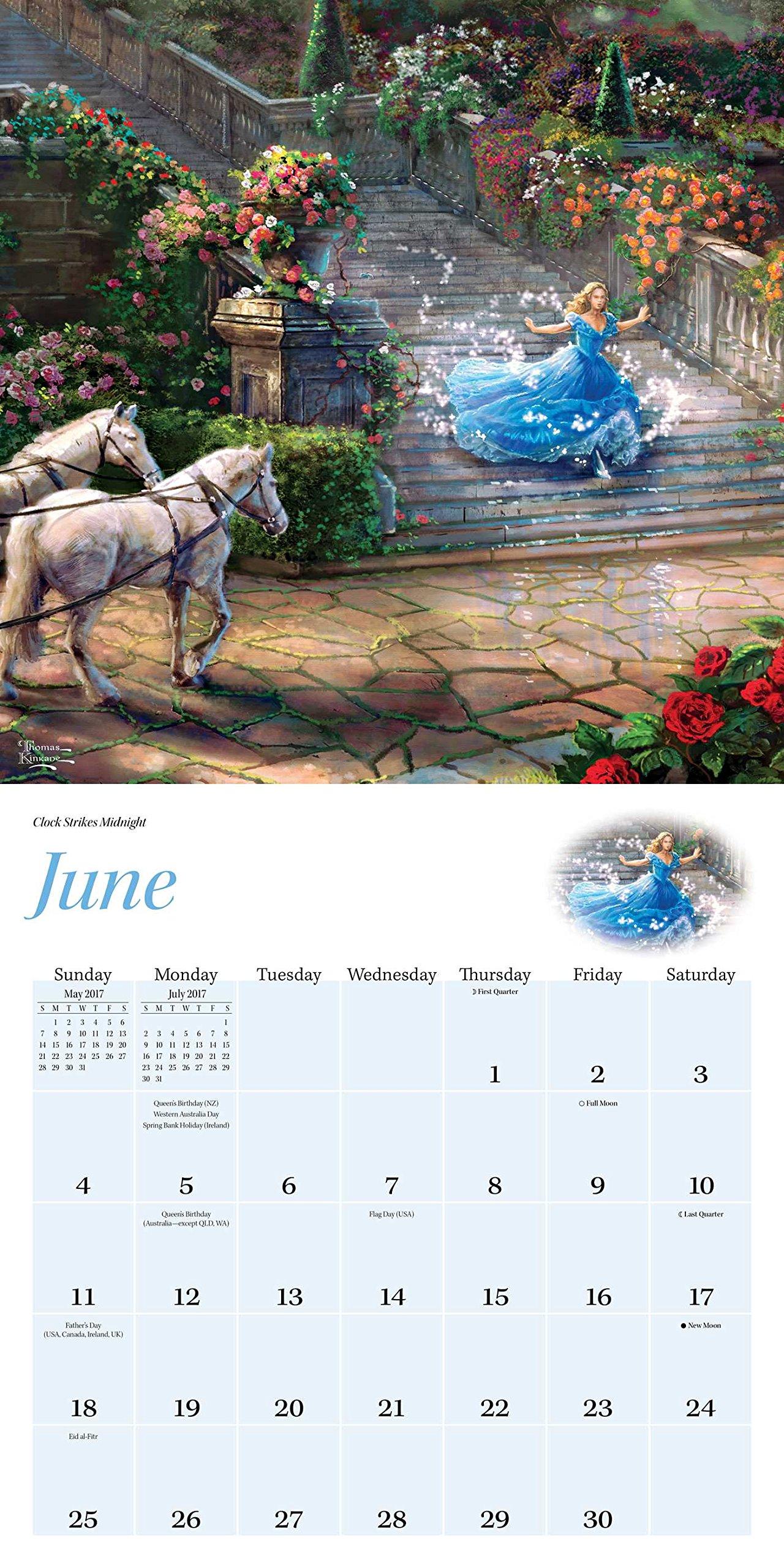 thomas kinkade the disney dreams collection 2017 wall calendar calendar amazon. Black Bedroom Furniture Sets. Home Design Ideas