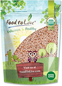 Organic Whole Psyllium Seeds, 1 Pound - Non-GMO, Vegan, Kosher, Keto Friendly, Raw, Bulk, Rich in Iron, Natural Food Thickener