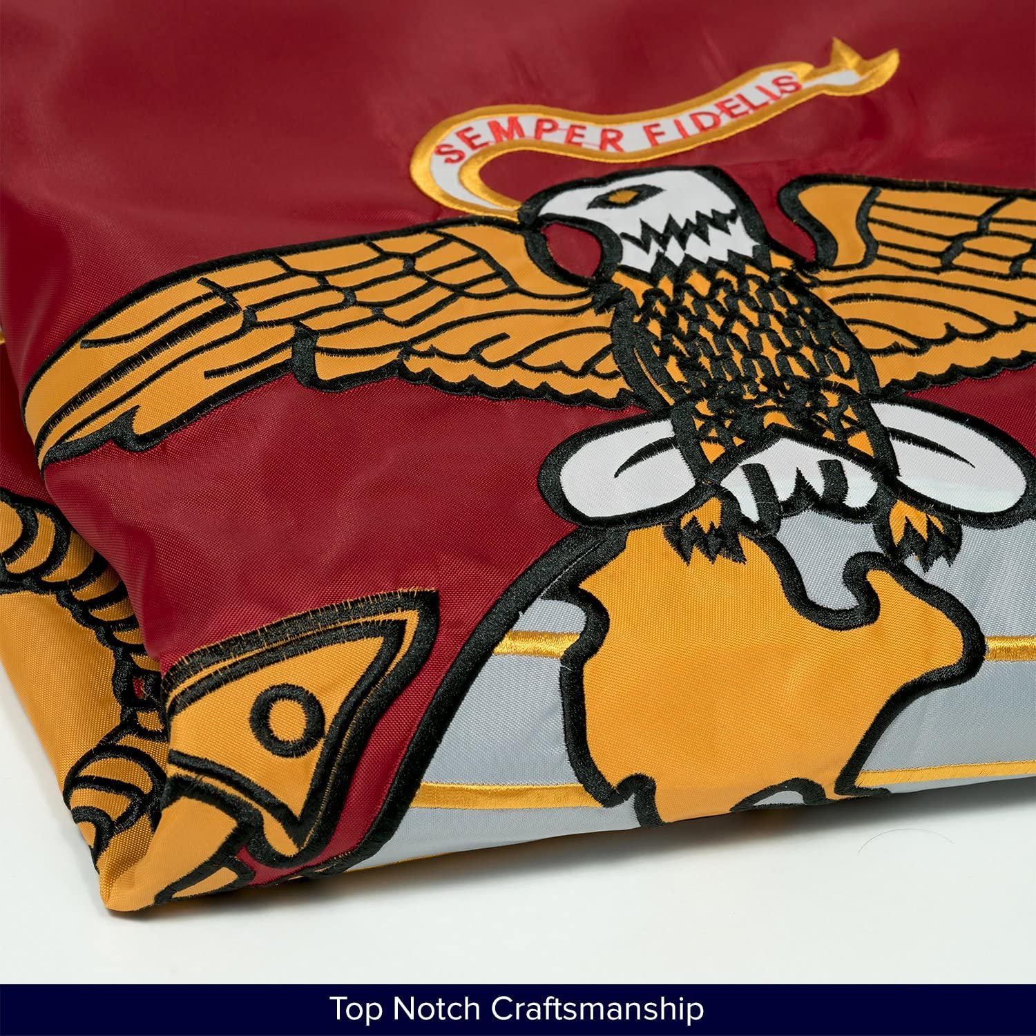 3x5 U.S Marines EGA Marine Corps 2 Faced 2ply Double Sided Wind Resistant Flag