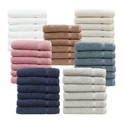 10 toallas para baño de lujo 41x80 cm , de 600 a 850 gr/m². Estilo hotel o spa, de cero torsión, 100% algodón egipcio.: Amazon.es: Hogar