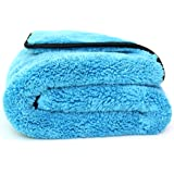 Professional Grade Dual-Purpose Microfibre Car Detailing Towel / Cloth - 40x60cm - 800GSM : Buffing - Polishing - Drying - Waxing - Cleaning - Valet