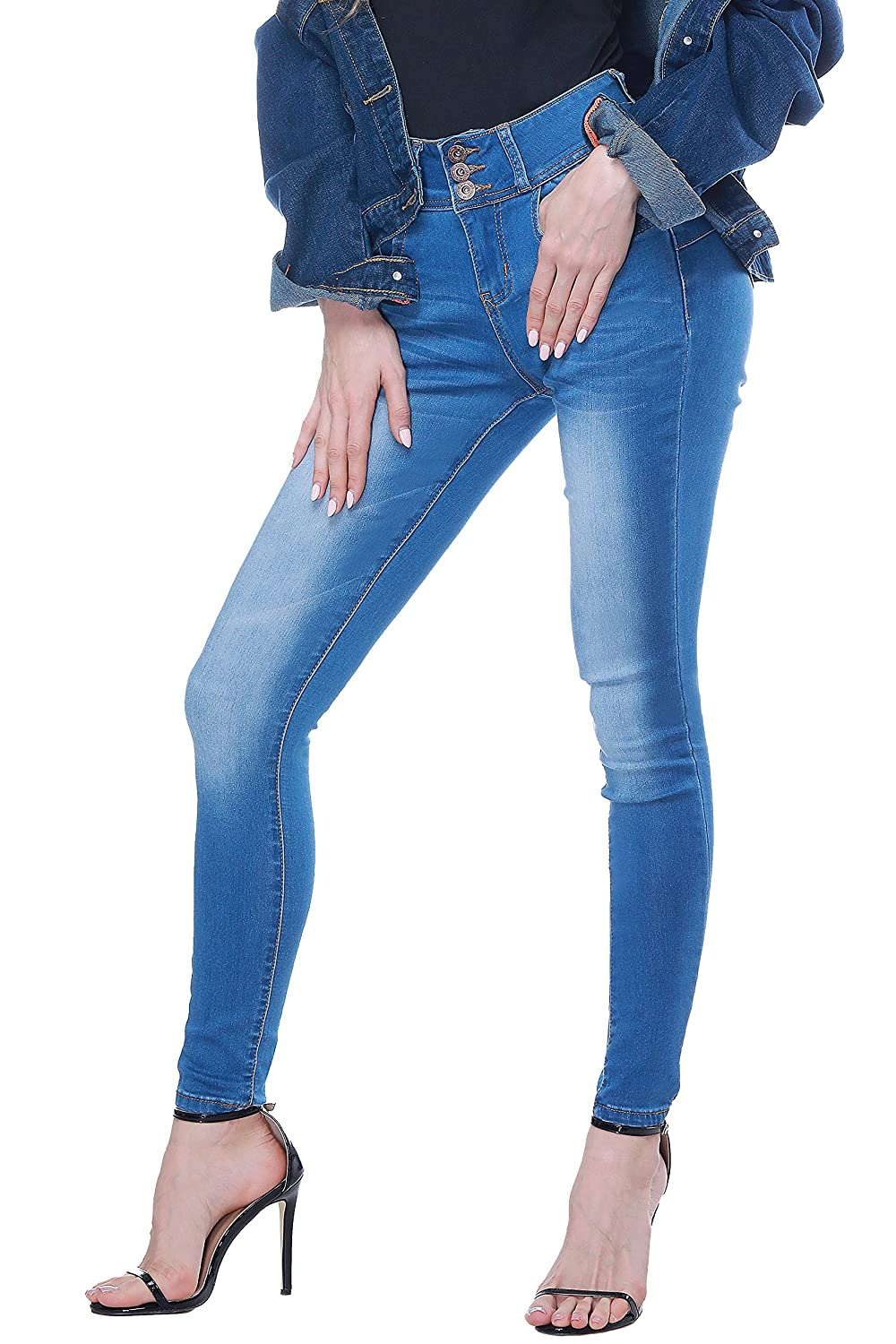 8493341ecc3 FLATTERING STYLE  Mid waisted skinny stretch jeans sit below your waist