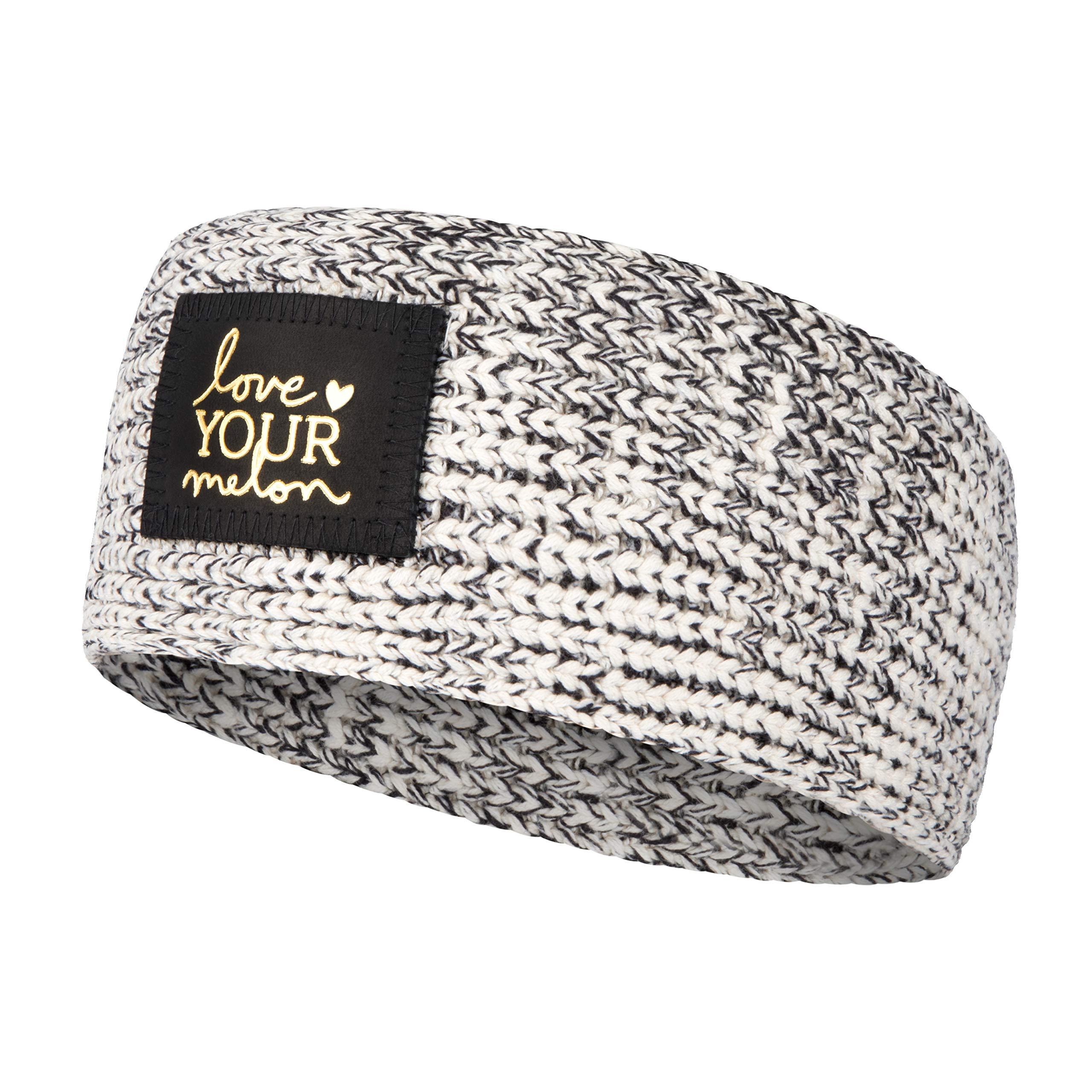 Black Speckled Gold Foil Knit Headband