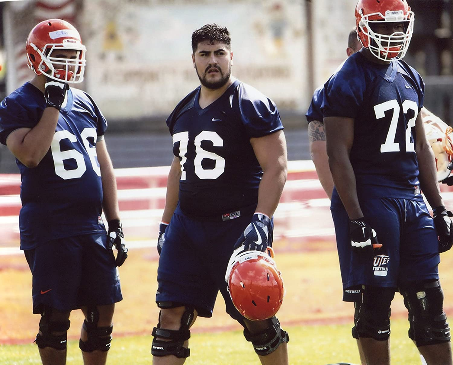official photos 2ad05 01a25 Amazon.com : WILL HERNANDEZ UTEP MINERS FOOTBALL 8X10 SPORTS ...