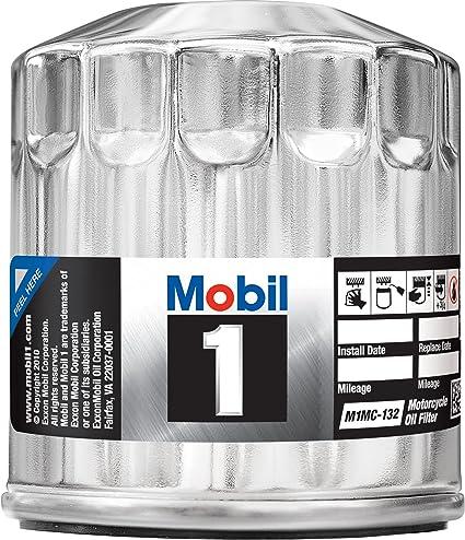 .com: mobil 1 m1mc-132 chrome motorcycle oil filter: automotive