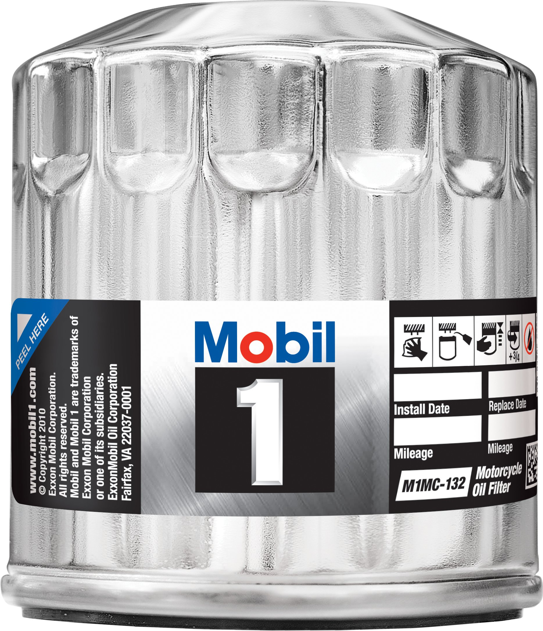 Mobil 1 M1MC-132 Motorcycle Oil Filter, Chrome (Pack of 6) by Mobil 1