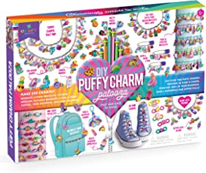 Craft-tastic – DIY Puffy Charm Palooza – Jewelry Making Kit Creates 249 Charms for Bracelets, Necklaces, Pencil Toppers, and Zipper Pulls – Fun Arts and Crafts Kit for Kids