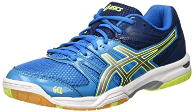 ASICS Volleyball Shoes Mens Gel-Rocket 7 - Neon Green/White/Black,