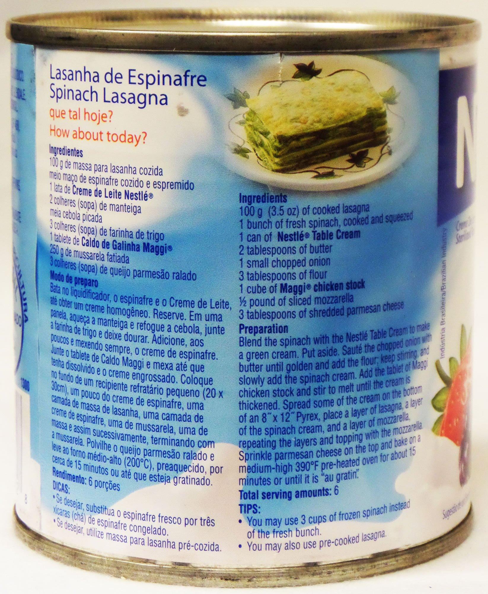 Nestlé Creme de Leite 300ml   Table Cream 10.1 Fl.Oz. (Pack of 04) by Nestle (Image #5)