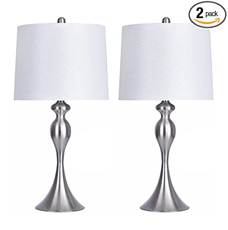 Grandview Home Accessories Brushed Nickel Table Lamp Set Of 2