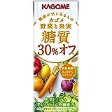 カゴメ 野菜と果実糖質30%オフ 200ml×24本