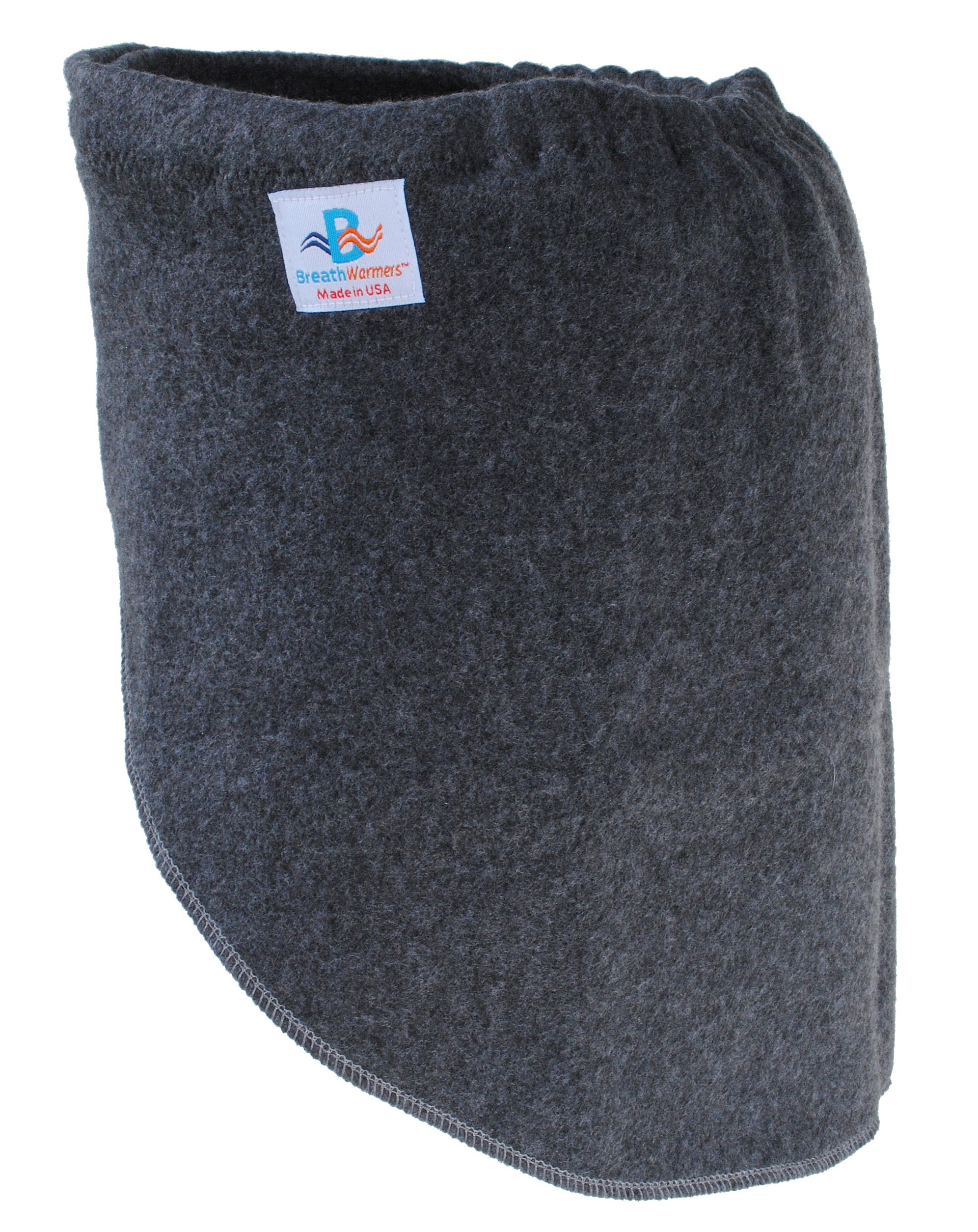 Breathwarmers, Cold-air Warming Scarf, One Size, Dark Grey (Dark Grey) by Breathwarmers