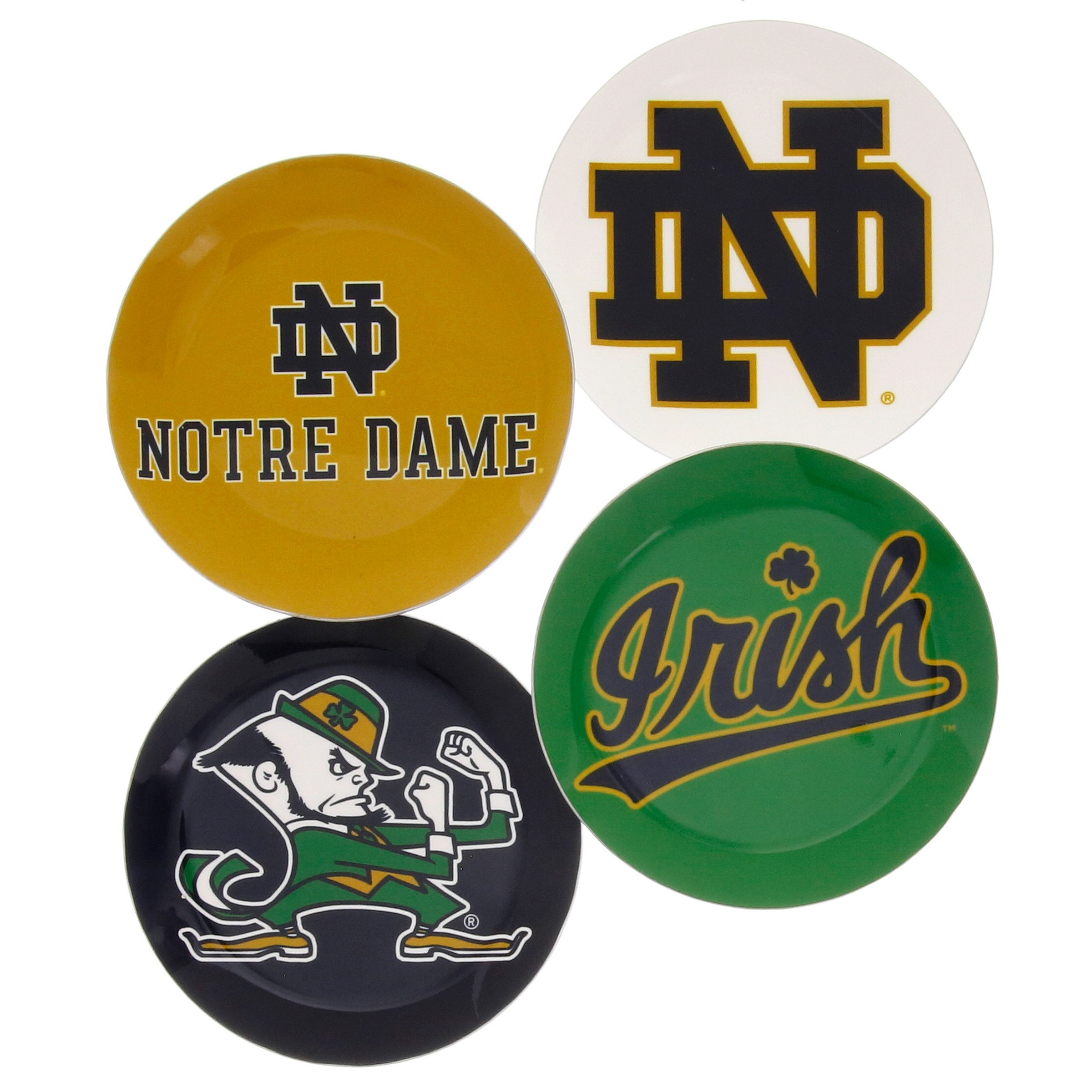 College and University Coaster Set, 4 Coasters Included, Made of Light Weight Aluminum by Wendell August (Notre Dame University, 4 Coasters)
