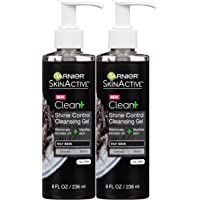 2-Pack Garnier Skin Skinactive Men's Shine Control Face Wash