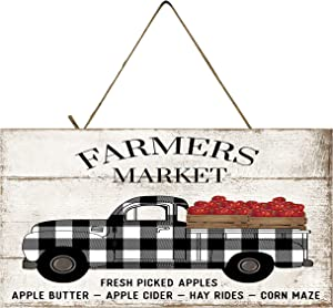 Twisted R Design Vintage Truck Sign (Farmers Market Apple)