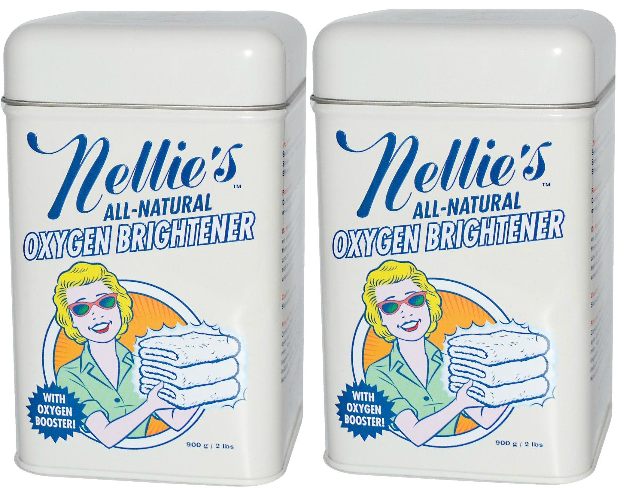 Nellie's All-Natural Oxygen Brightener Tin - 2 lb (pack of 2)