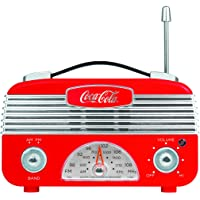 Coca Cola CCR01 Vintage Style AM/FM Radio