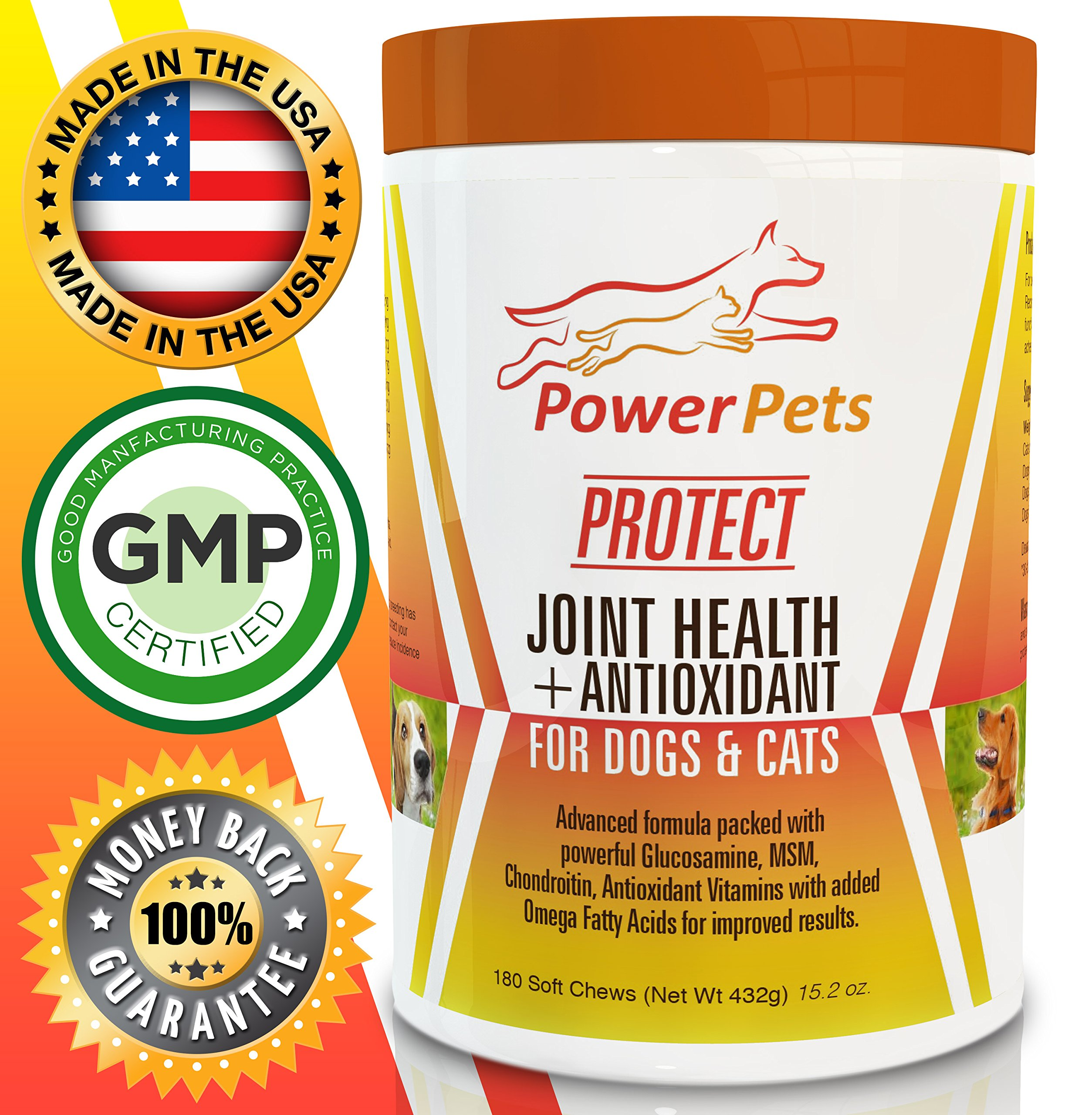 Power Pets Joint Health Antioxidant Supplement – 180 Tablets