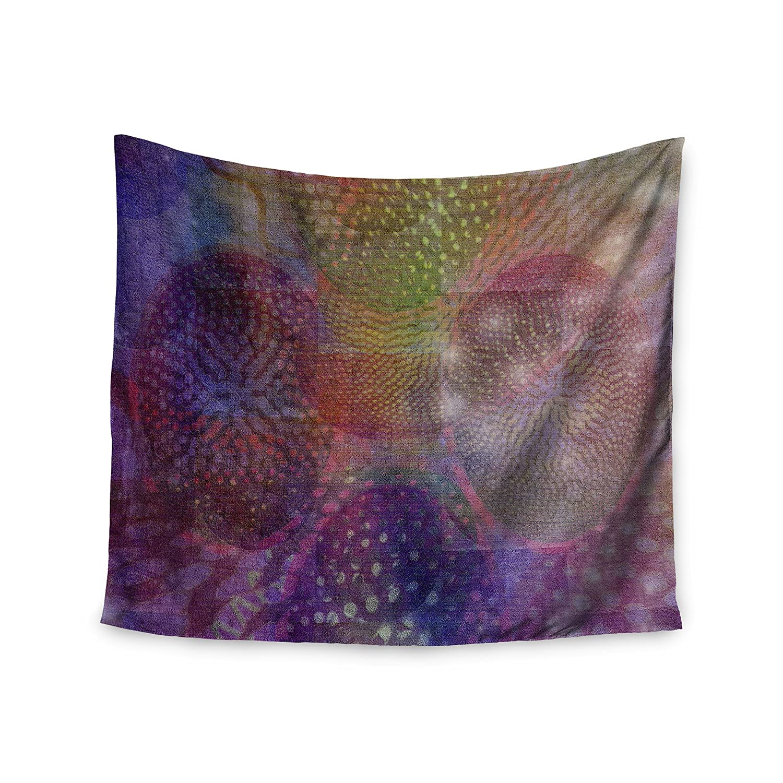 Digital 68 x 80 Wall Tapestry Lavender Kess InHouse Jellyfish Ballet Purple