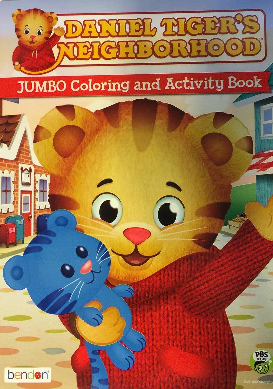amazon com daniel tiger u0027s neighborhood coloring and activity book