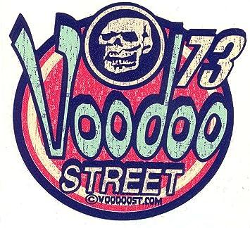 Voodoo Street diseño de calavera 73 pequeña pegatina: Amazon.es: Coche y moto