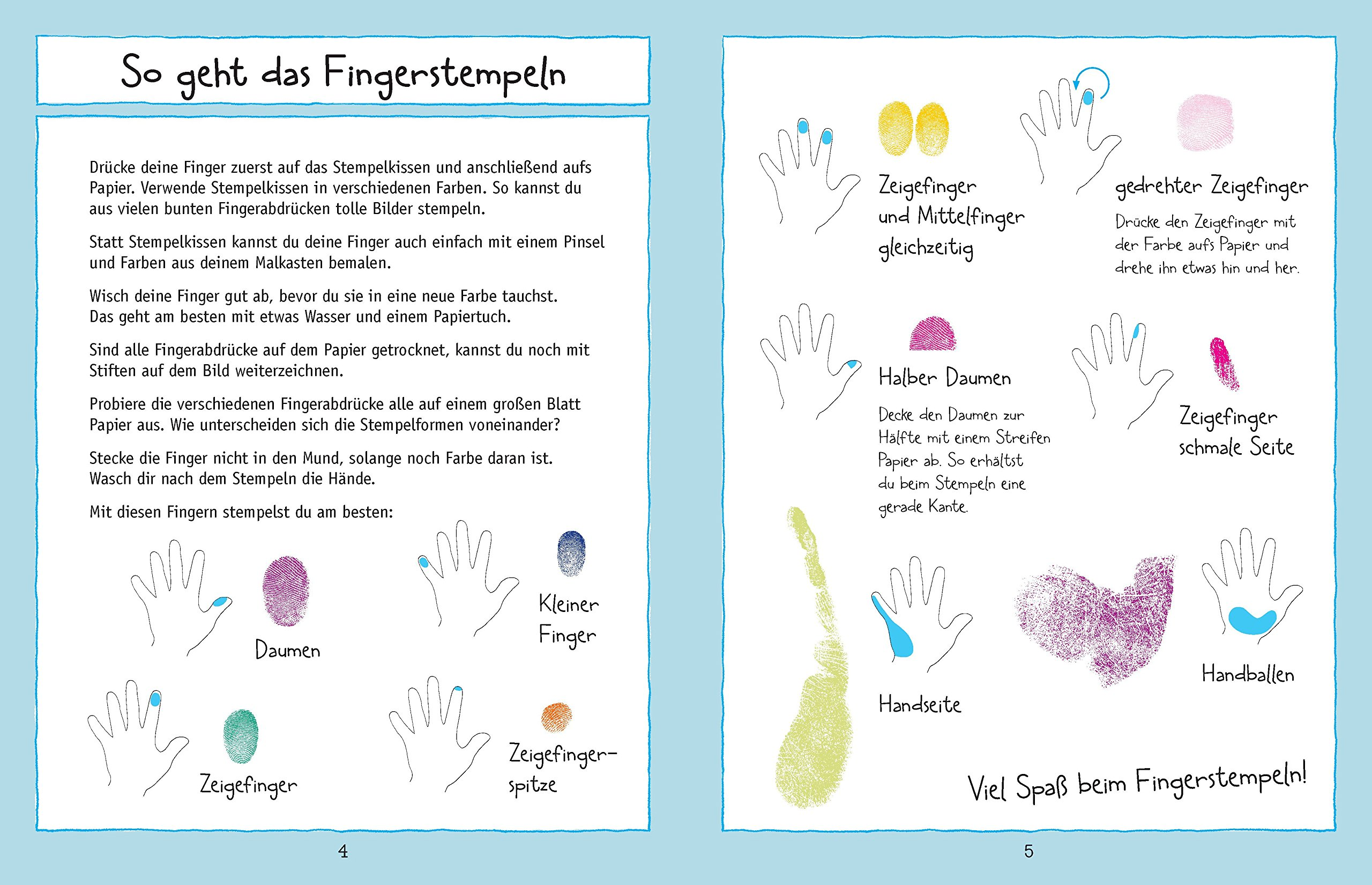Mein Fingerabdruck-Stempelbuch Tiere: 9783849910136: Amazon.com: Books