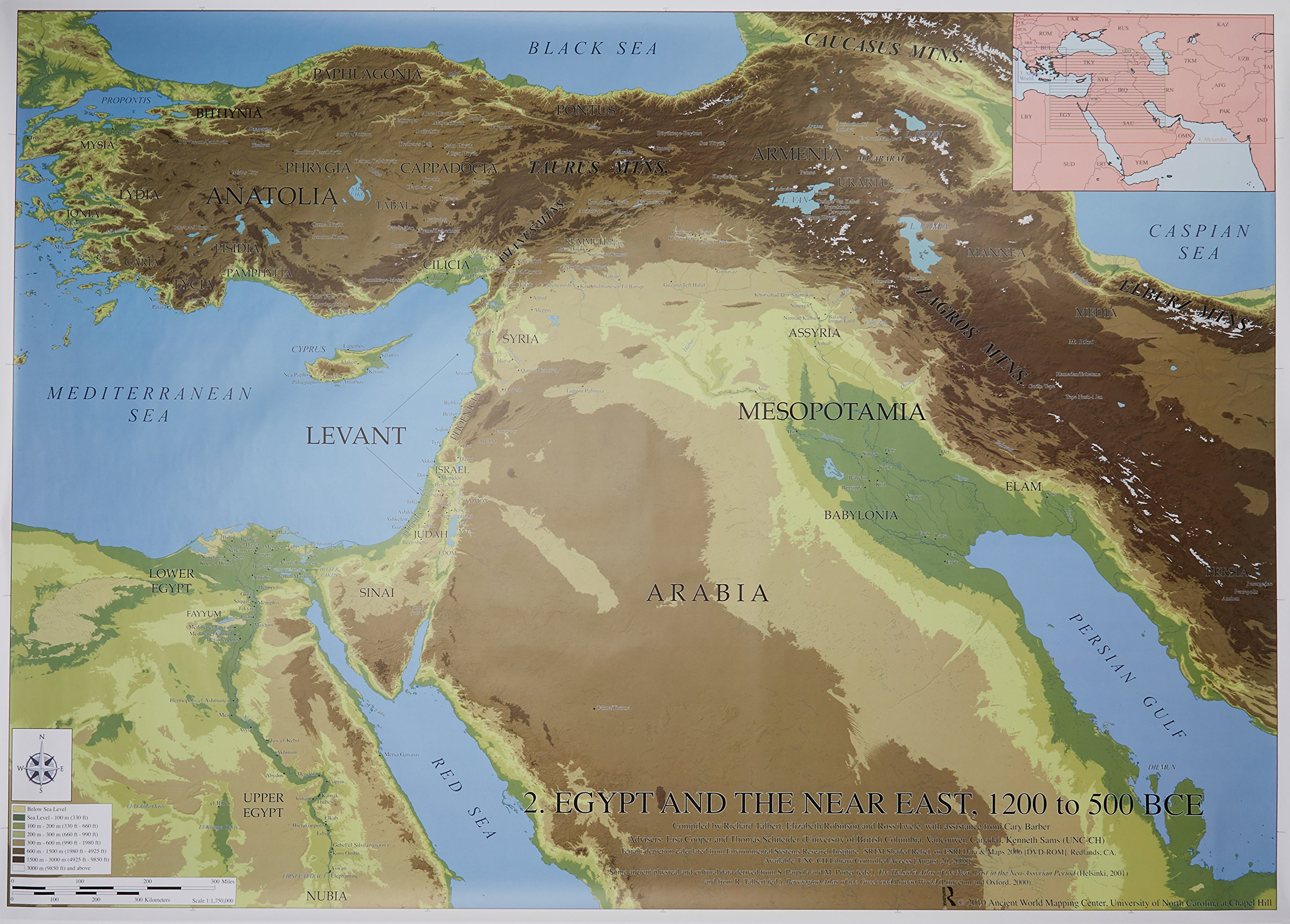 Buy Egypt and the Near East 1200 - 500 BCE: Routledge Wall Maps for ...