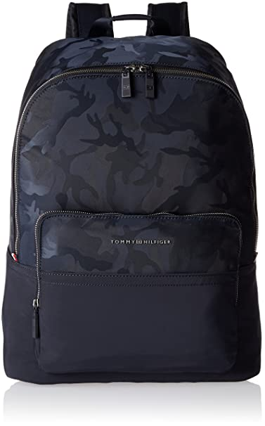 Tommy Hilfiger - Tailored Nylon Backpack, Mochilas Hombre, Bleu (Tommy Navy),