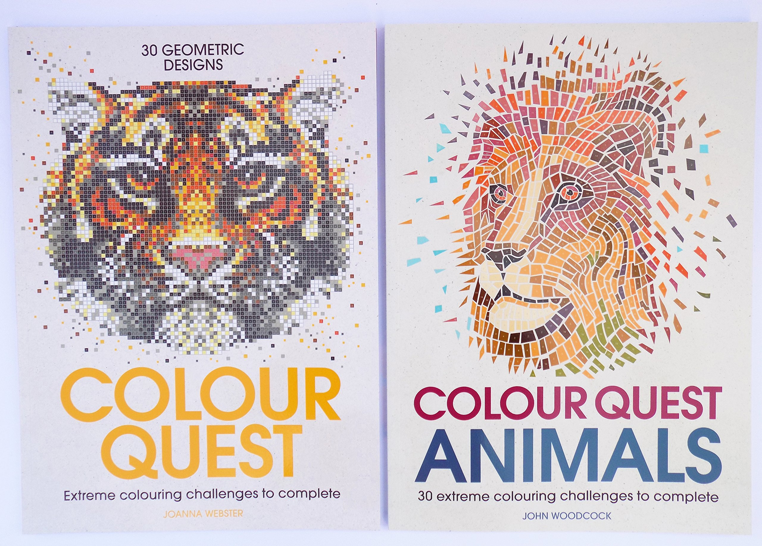 Colour Quest Animals (Colouring Books): Amazon.co.uk: John Woodcock ...