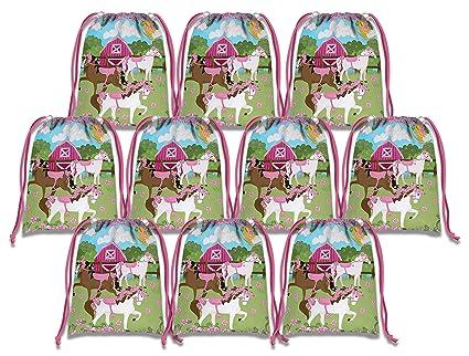 Amazon.com: Bolsas con cordón rosa para regalo de cumpleaños ...