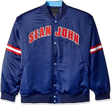 d8225996399 Sean John Men s Big and Tall Satin Jacket at Amazon Men s Clothing store