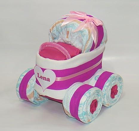 """pañales pañales para tartas – Cochecito XL de neumáticos """"Corazón rosa"""