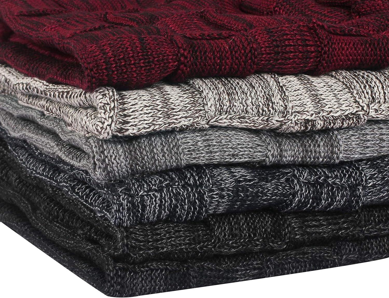 Berretto Caldo per Adulti Perfetto in Inverno thematys Berretto Invernale Beanie in 5 Colori Diversi Style 1