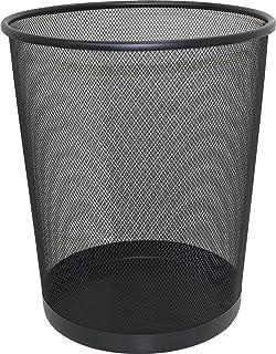 Black Large Mesh Waste Paper Bin Student Home Work Office Waste Basket