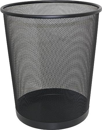 Attirant Black Large Mesh Waste Paper Bin Student Home Work Office Waste Basket