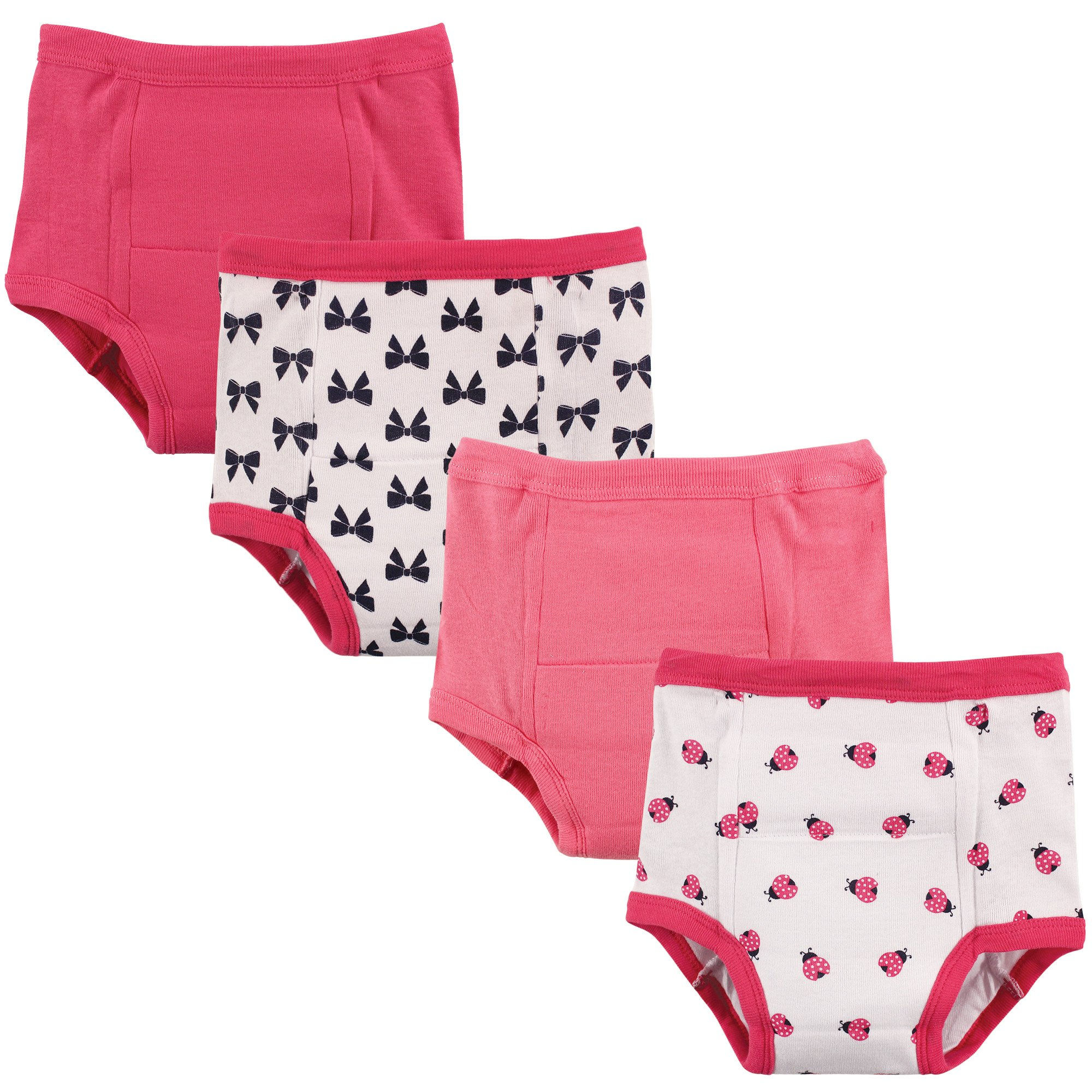 Luvable Friends Baby Cotton Training Pants, Girl Chevron 4Pk, 4T