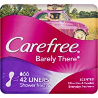 Carefree Pantyliner Barely There Scented Shower Fresh, 42ct