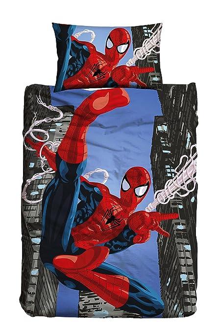 Copripiumino Spiderman.Spiderman Multicolor Bed 90 155 X 200 Cm 50 X 80 Cm Amazon Co
