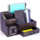 Wood Desk Organizer, Wooden Desktop Organization Set, Mail Organizer for Office and Kitchen. Keep Desk and Countertop Organiz