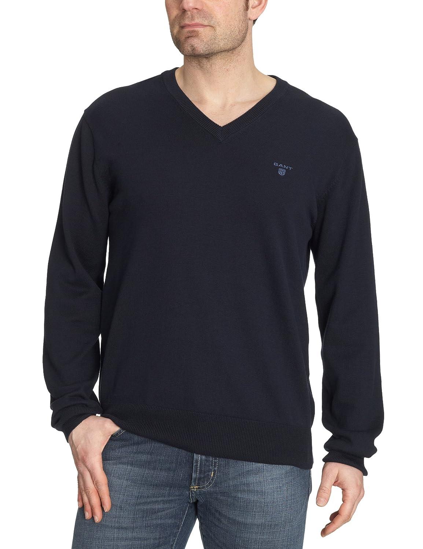 GANT Mens Standard Lightweight Cotton V-Neck Sweater 83072