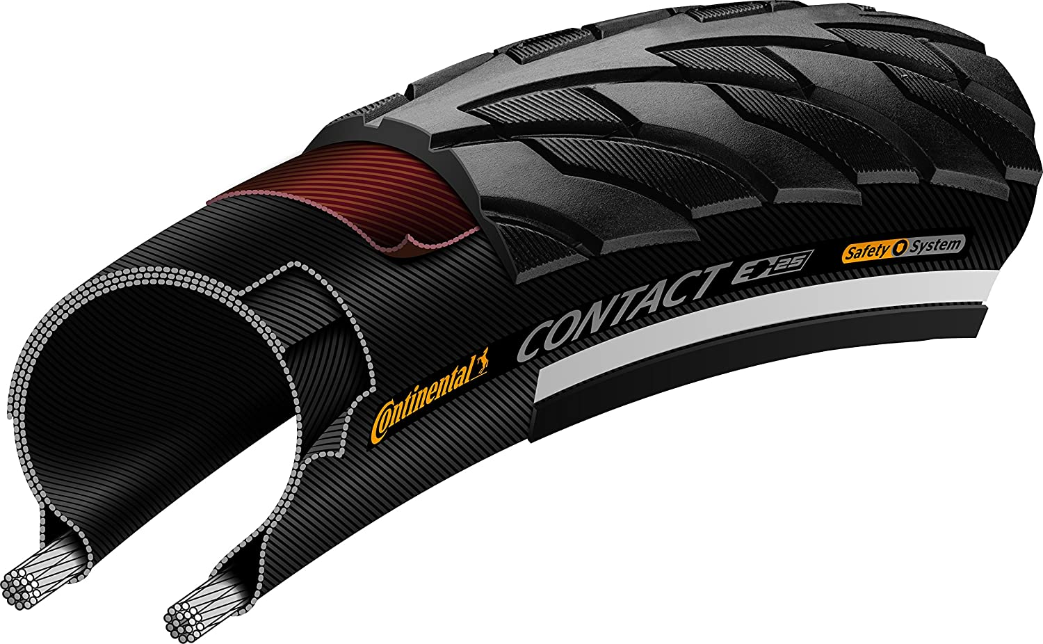 Continental Contact ETRTO BW Bike Tires, Black, 700X28 (28-622) 0101316